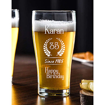Personalised Birthday Beer Conical Mug Online