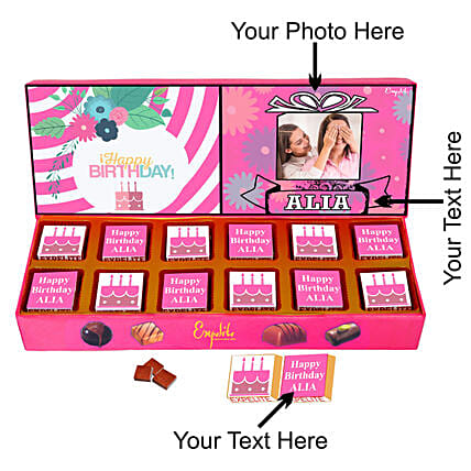 best personalised chocolate online:Personalised Chocolates Gift For Birthday