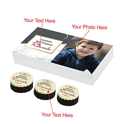 personalised chocolate box online:Customised Chocolates