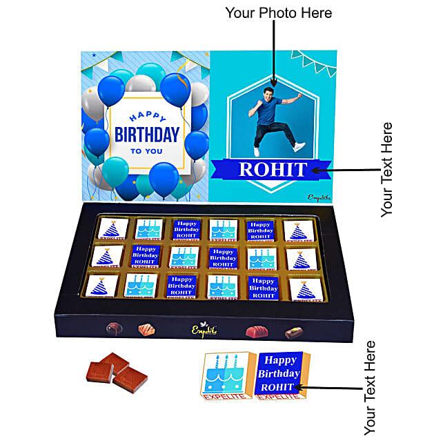happy birthday personalised chocolate