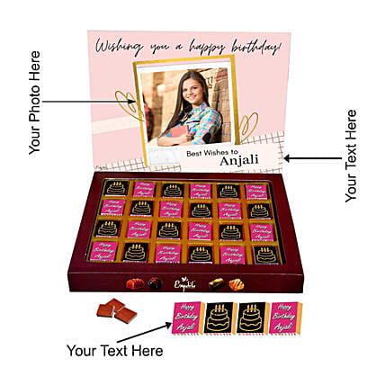 online best personalised chocolate for her:Customised Chocolates