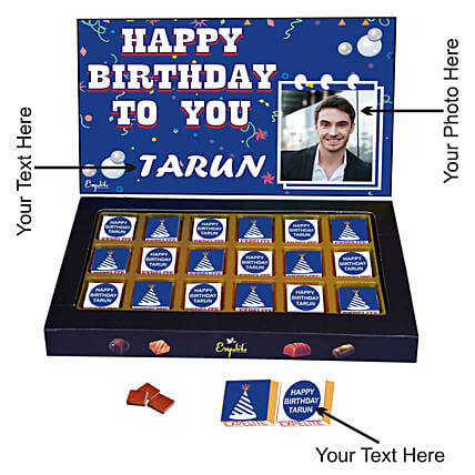 customised chocolate for him:Personalised Chocolates for Him