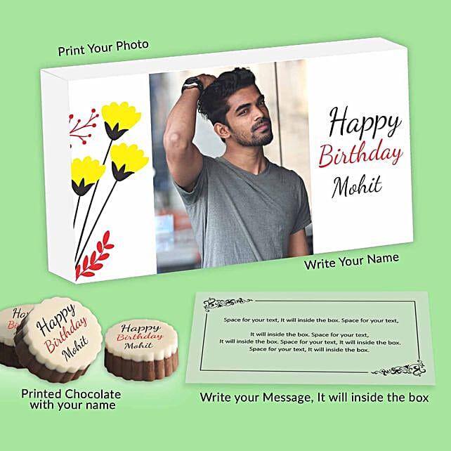 Personalised Birthday Chocolates For Him