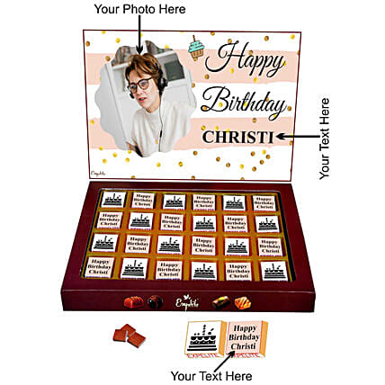lovely personalised chocolate for her