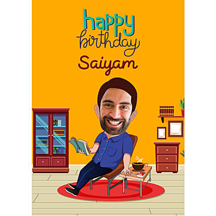 Birthday E-Caricature For Him Online