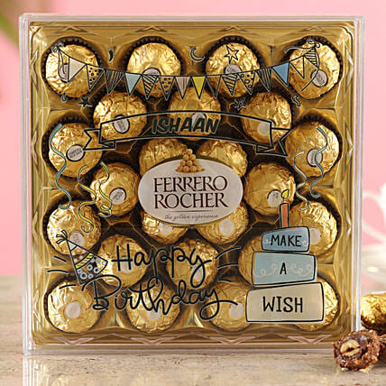 Personalised Birthday Ferrero Box