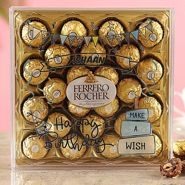 Personalised Birthday Ferrero Box:Personalised Chocolates Gift For Birthday