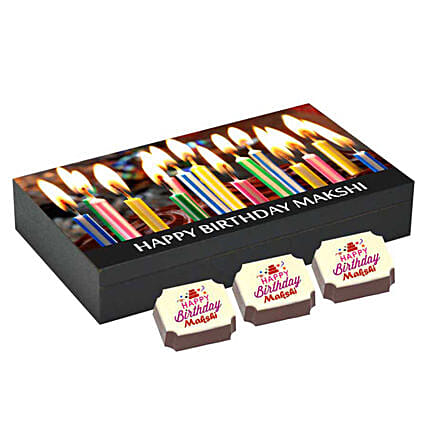 Personalised Birthday Gift Box 6 Chocolates