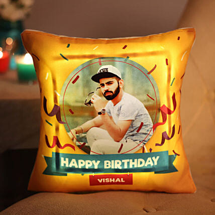 LED Cushion with  Photo Online:Personalised Led-cushions