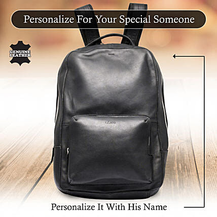 Customised Name Backpack Online:Personalised Leather Gifts