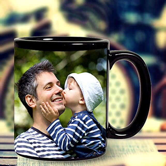 Personalised Black Ceramic Mug:Mugs for Fathers Day
