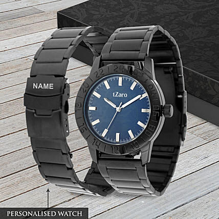 personalised black watch online