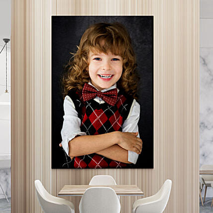 Personalised Blissful Memories Portrait Canvas Frame