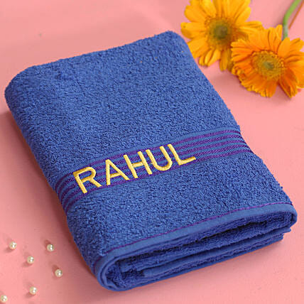 printed name towel online:Personalised Towels