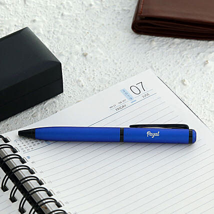 Personalised Blue Roller Ball Pen