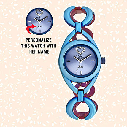 Personalised Blue Watch For Her