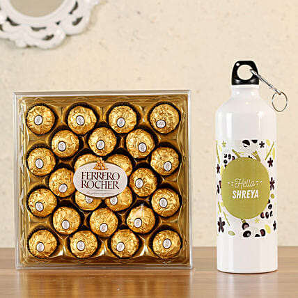ferrero rocher box with bottle