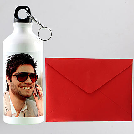 Personalised Bottle n Greeting Card Combo