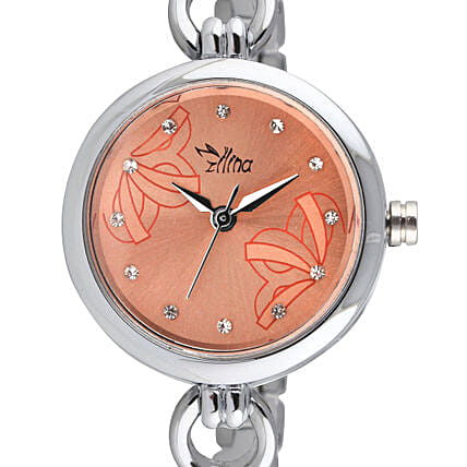 Personalised Classy Silver Watch:Personalised Wrist Watch