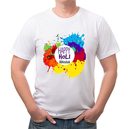 Personalised Colourful Holi T shirt