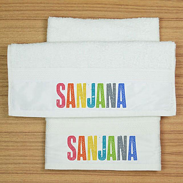Personalised Colourful Name Towel Set