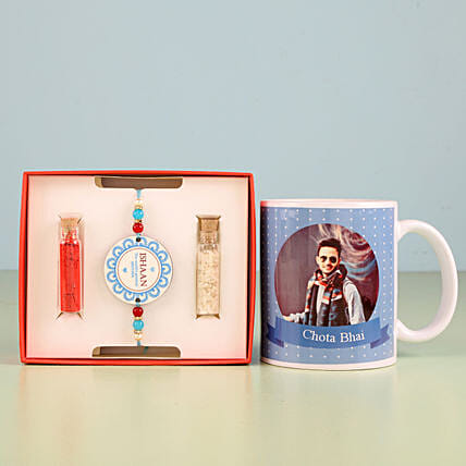 Printed rakhi and mug online
