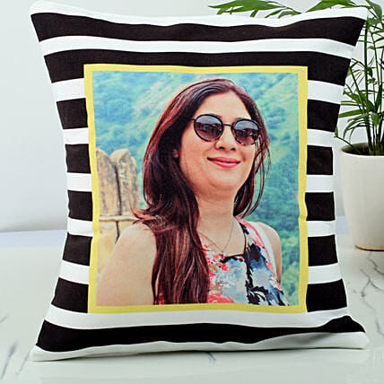 Personalised stripped cushion:Return Gifts