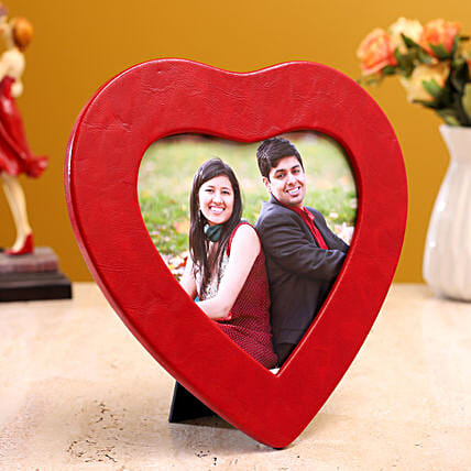 online personalised couple heart frame