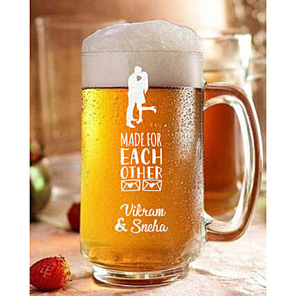 Personalised Couple Love Beer Mug Online