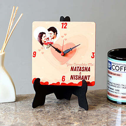 customised mdf table clock