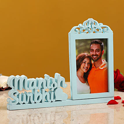 Personalised Couple Photo Frame With Names:Personalized Photo Frames
