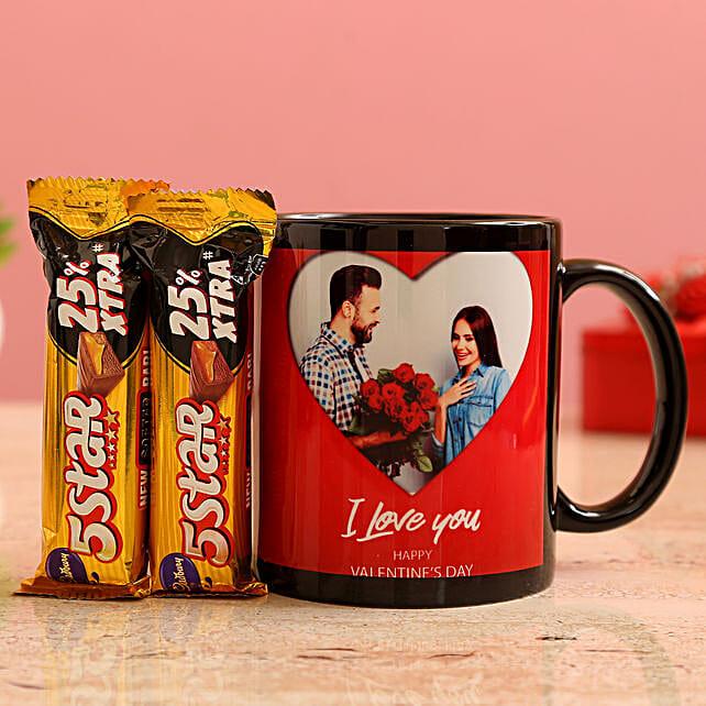 Customised Couple Photo Mug and Cadbury 5 Star Chocolates