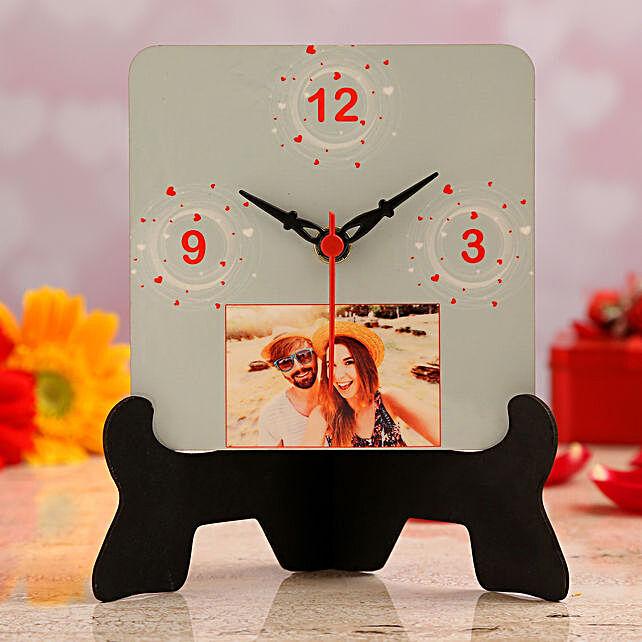 personalised valentine table clock