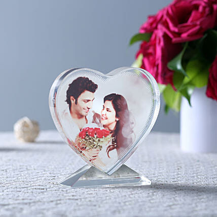 Personalized Heart Shaped Show Piece Online:Anniversary Photo Frames