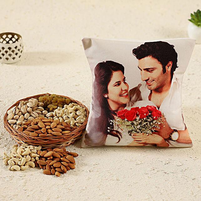 Personalised Cushion & Dry Fruits Basket