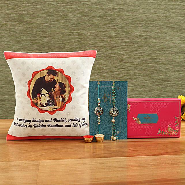 Personalised Cushion and Premium Rakhis