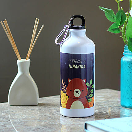 printed water bottle online:Personalised Message Bottles