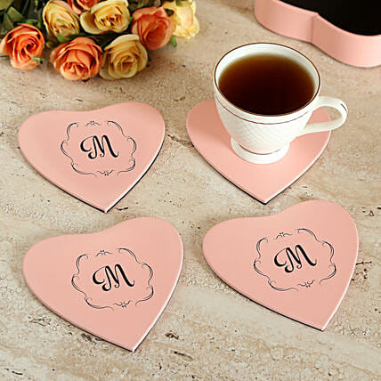 Customised Pink Coaster Set