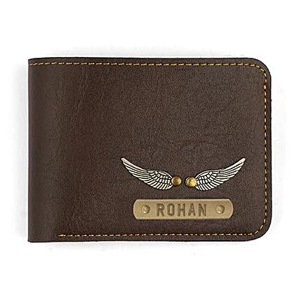 customized brown wallet:Mens Accessories