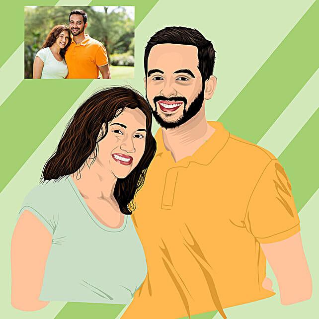 best digital sketch for couple online:Digital Gifts for Him