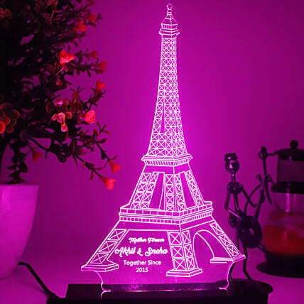 Personalised Effiel Tower LED Lamp
