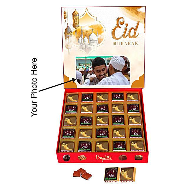 Personalised Eid Mubarak Chocolate Box 25 Pcs