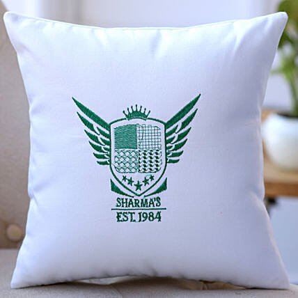 online embroidered coast arm cushion online