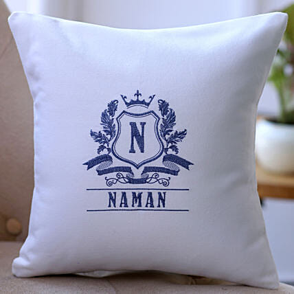 online embroidered cushion