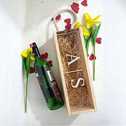 personalised wooden wine box