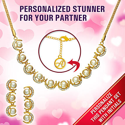 Personalised Exclusive Gold Pendant Set