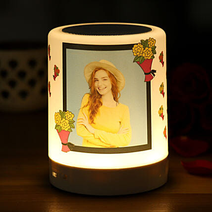 Personalised Floral Bliss Bluetooth LED Speaker:Personalised Speakers