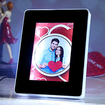 online valentine theme personalised magic mirror:Wedding Personalised Photo Frames