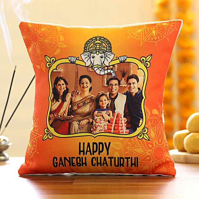Ganesh Chaturthi Printed Cushion