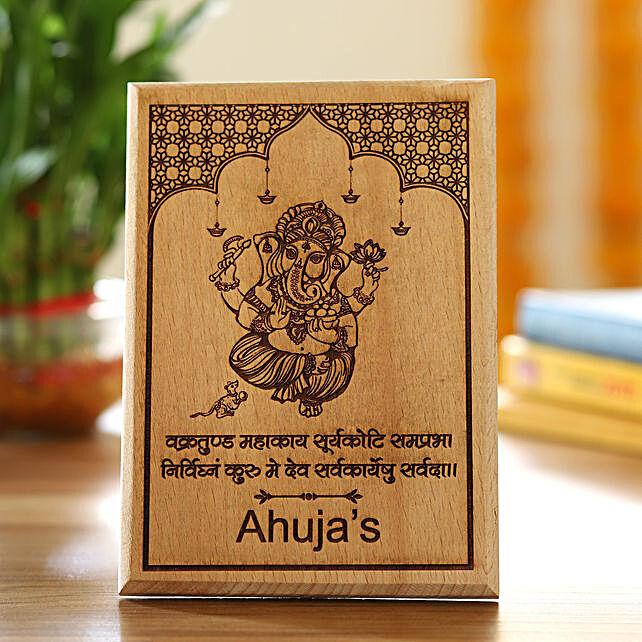 Ganpati Ji Wooden Plaque Online